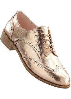 Туфли на шнуровке (розово-золотистый) Bonprix
