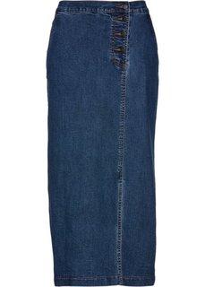 Юбка джинсовая (синий «потертый») Bonprix
