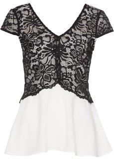Блузка (белый/черный) Bonprix