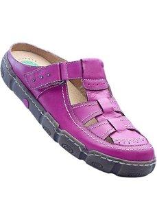 Сабо из натуральной кожи (фиолетовый) Bonprix