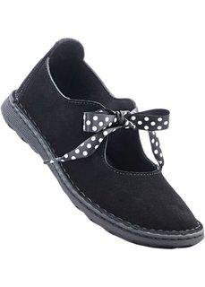 Туфли из кожи (черный) Bonprix