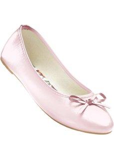 Однотонные балетки с бантиком (розовый) Bonprix