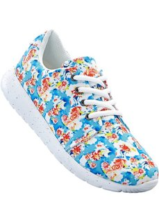 Кроссовки с цветочным принтом (белый с рисунком) Bonprix