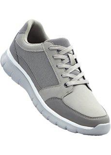 Туфли на шнуровке (серый металлик) Bonprix