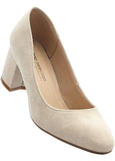 Туфли в двух вариантах ширины стопы, широкая стопа (бежевый) Bonprix