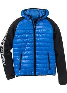 Функциональная спортивная куртка Regular Fit (лазурный/черный) Bonprix
