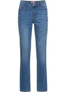 Джинсы эластичные с вышивкой, cредний рост (N) (голубой) Bonprix