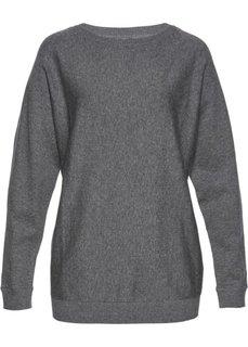 Пуловер с рукавом летучая мышь (серый меланж) Bonprix
