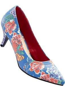 Туфли (синий в цветочек) Bonprix
