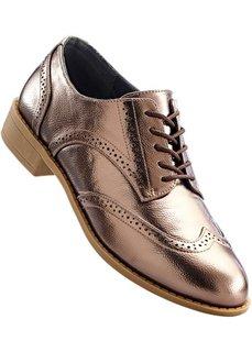 Туфли на шнуровке (бронзовый металлик) Bonprix