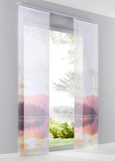Японская штора Ясу (1 шт.), Шина с лентой велкро (красный) Bonprix
