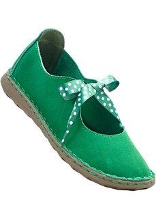 Туфли из кожи (зеленый) Bonprix