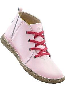 Кожаные ботинки (розовый/ярко-розовый) Bonprix