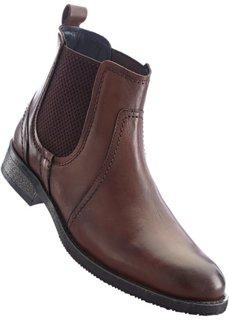 Ботинки-челси (темно-коричневый) Bonprix