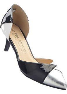 Туфли (черный/белый/серебристый) Bonprix
