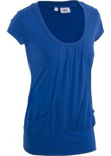 Длинная футболка стретч (генцианово-синий) Bonprix