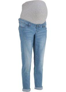 Джинсы длины 7/8 для беременных (голубой) Bonprix