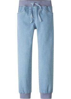 Джинсы Loose-fit с эластичными манжетами (голубой) Bonprix