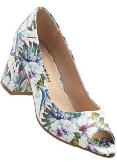 Туфли (белый в цветочек) Bonprix