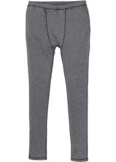 Функциональные спортивные брюки (серый меланж) Bonprix