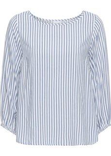 Блузка (кремовый/синий матовый в полоску) Bonprix