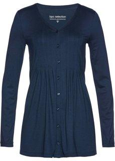 Трикотажная блузка с защипами (темно-синий) Bonprix