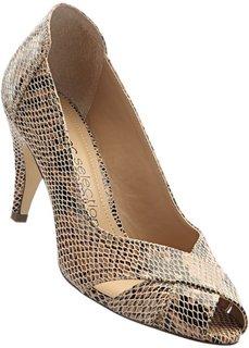 Туфли из кожи (змеиный рисунок/коричневый) Bonprix