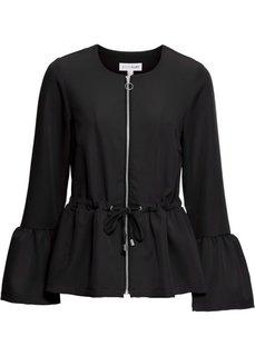 Куртка с баской (черный) Bonprix