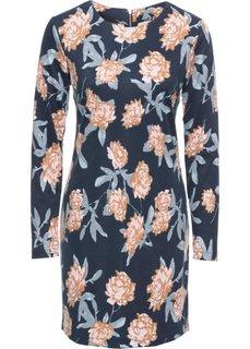 Платье из трикотажа (темно-синий в цветочек) Bonprix