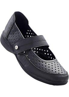 Туфли удобной формы (черный) Bonprix