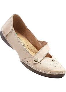 Туфли кожаные (песочный) Bonprix