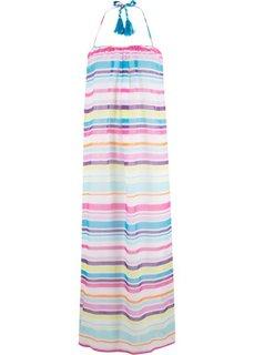 Пляжное платье (белый/бирюзовый/ярко-розовый/лиловый в полоску) Bonprix