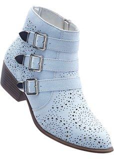 Полусапожки (нежно-голубой) Bonprix