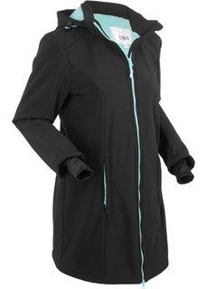 Куртка с плюшем (черный) Bonprix