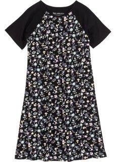 Ночная рубашка (черный с рисунком) Bonprix