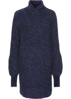 Платье из синельной пряжи (темно-синий) Bonprix