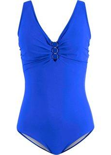 Слитный купальник, моделирующий фигуру (синий) Bonprix