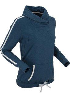 Свитшот с длинным рукавом (темно-синий меланж) Bonprix
