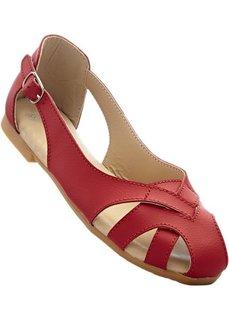 Туфли из кожи (красный) Bonprix