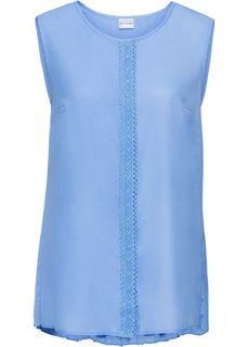 Блузка без рукавов (нежно-голубой) Bonprix