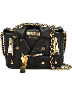 сумка через плечо в байкерском стиле Moschino