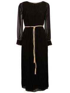 плиссированное платье миди Saint Laurent