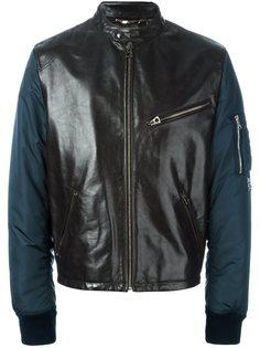 куртка-бомбер с кожаными вставками  Dolce & Gabbana