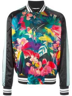 куртка бомбер с тропическим узором Valentino