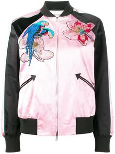 куртка-бомбер с тропическим узором Valentino
