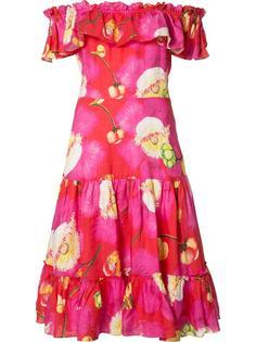 расклешенное платье с цветочным принтом Isolda
