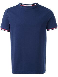 футболка с контрастным логотипом Moncler