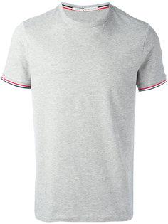 футболка с отделкой в полоску Moncler