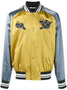 куртка-бомбер с аппликацией пантер Valentino