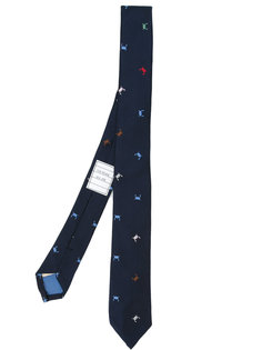 галстук с узором в виде крабов Thom Browne